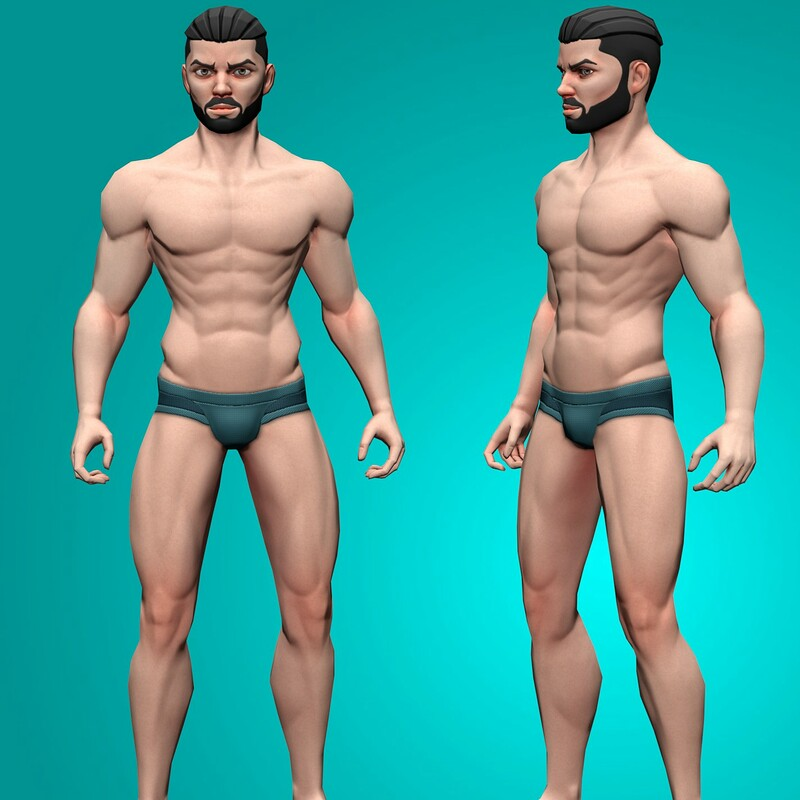 Kiroh - Stylized Low poly Rigged Male Character Design