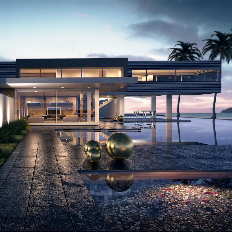 Ibiza House sunset