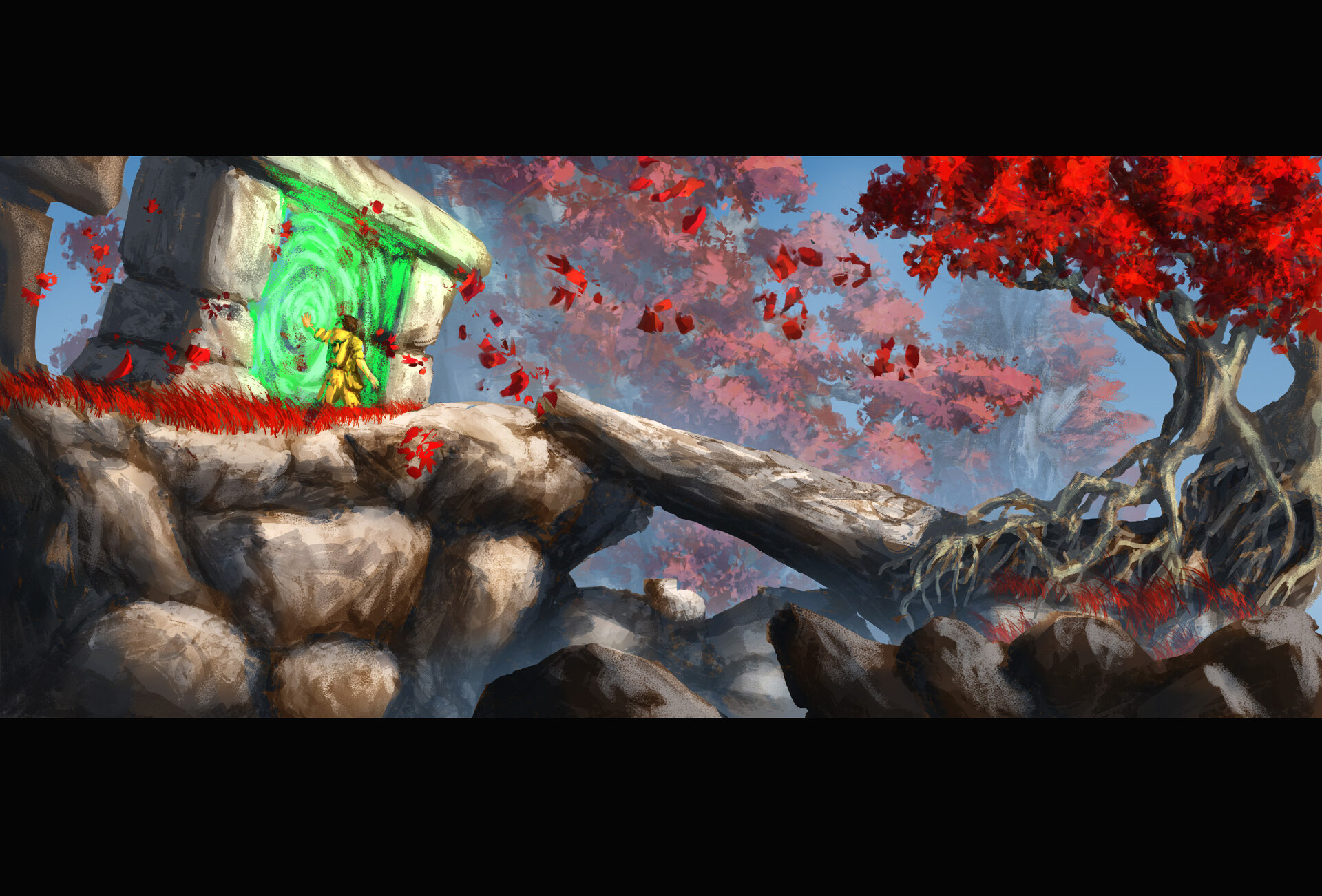 Mountain Portal // Environment / Painting / Technique