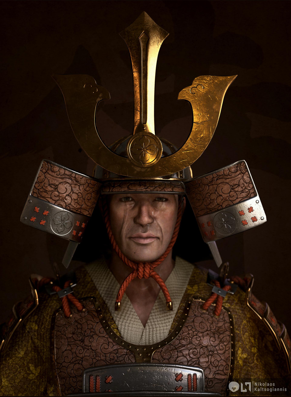 Nikolaos kaltsogiannis samurai bust 01