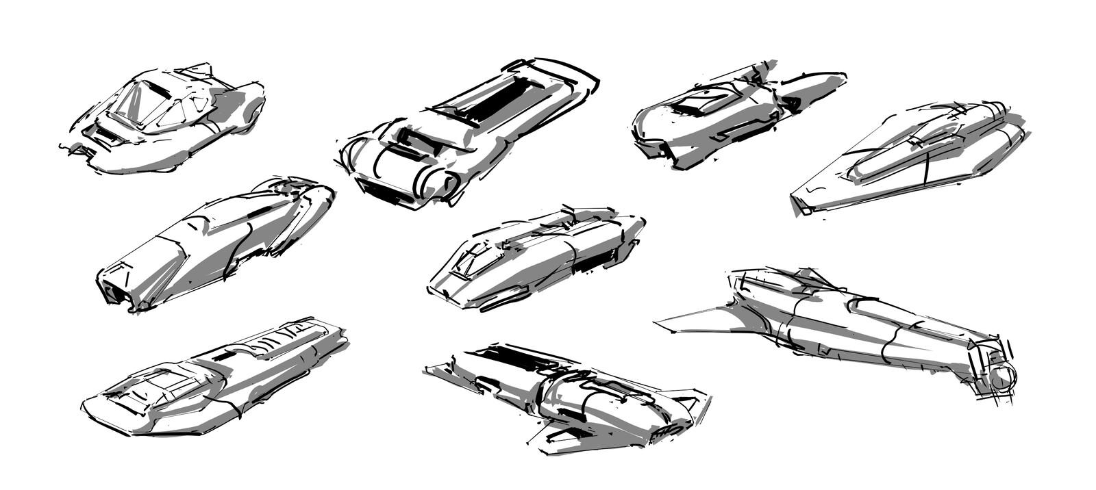 random BW lines sketches