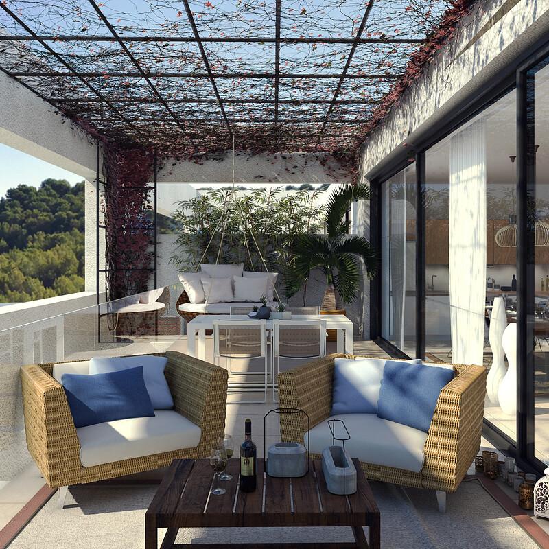 Cala Vinyas 4 terrace