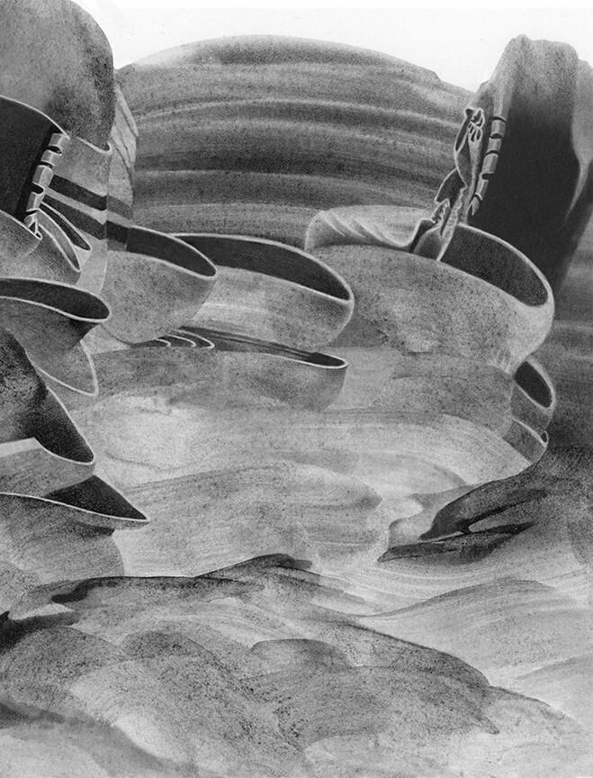 Artgraf liquid graphite on HP watercolor paper, and graphite pencils.