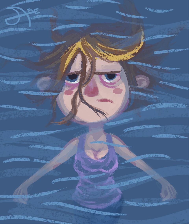 Cartoon me, floating