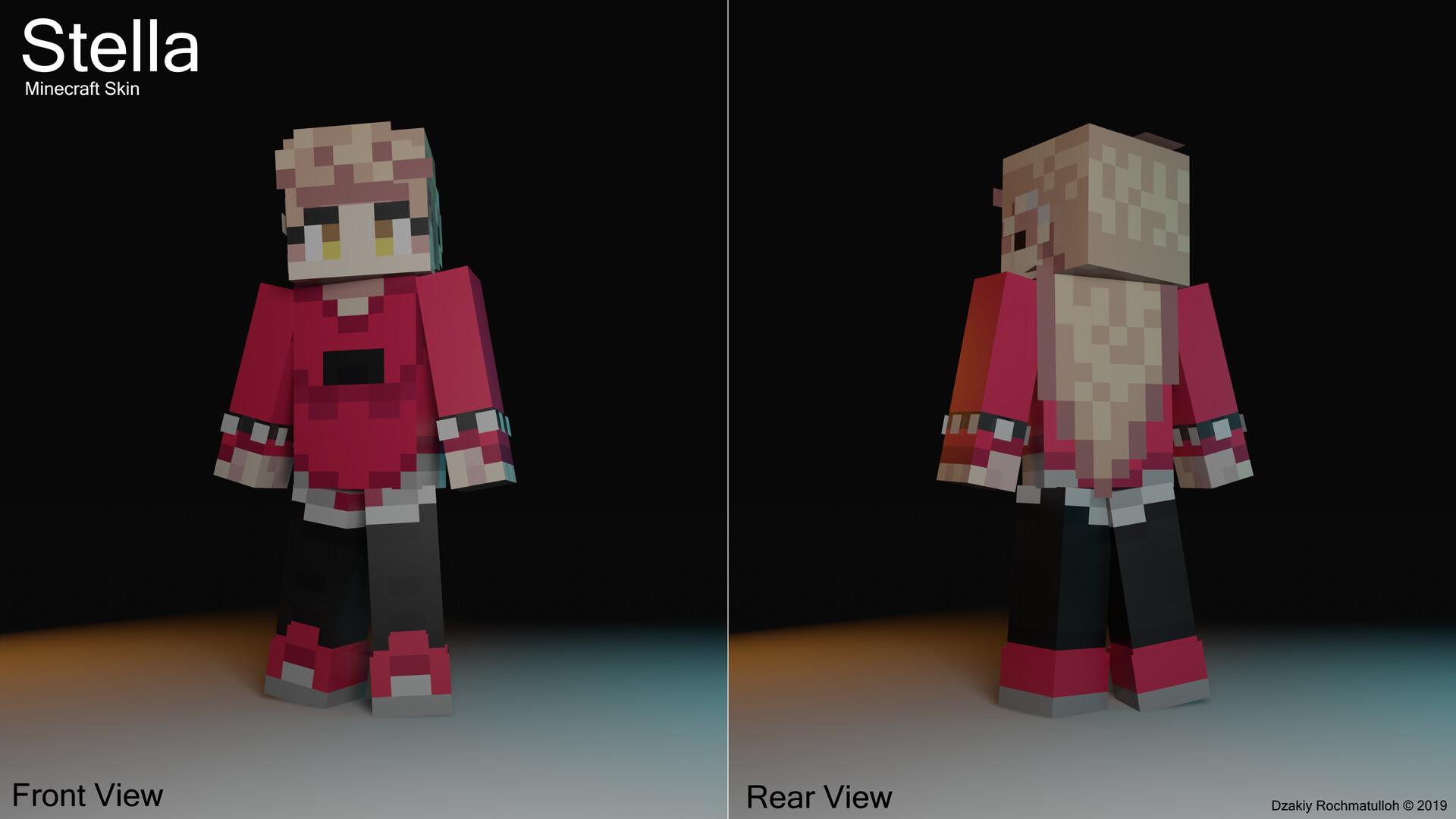 ArtStation   Stella   Minecraft Skin, Dzakiy Rochmatulloh