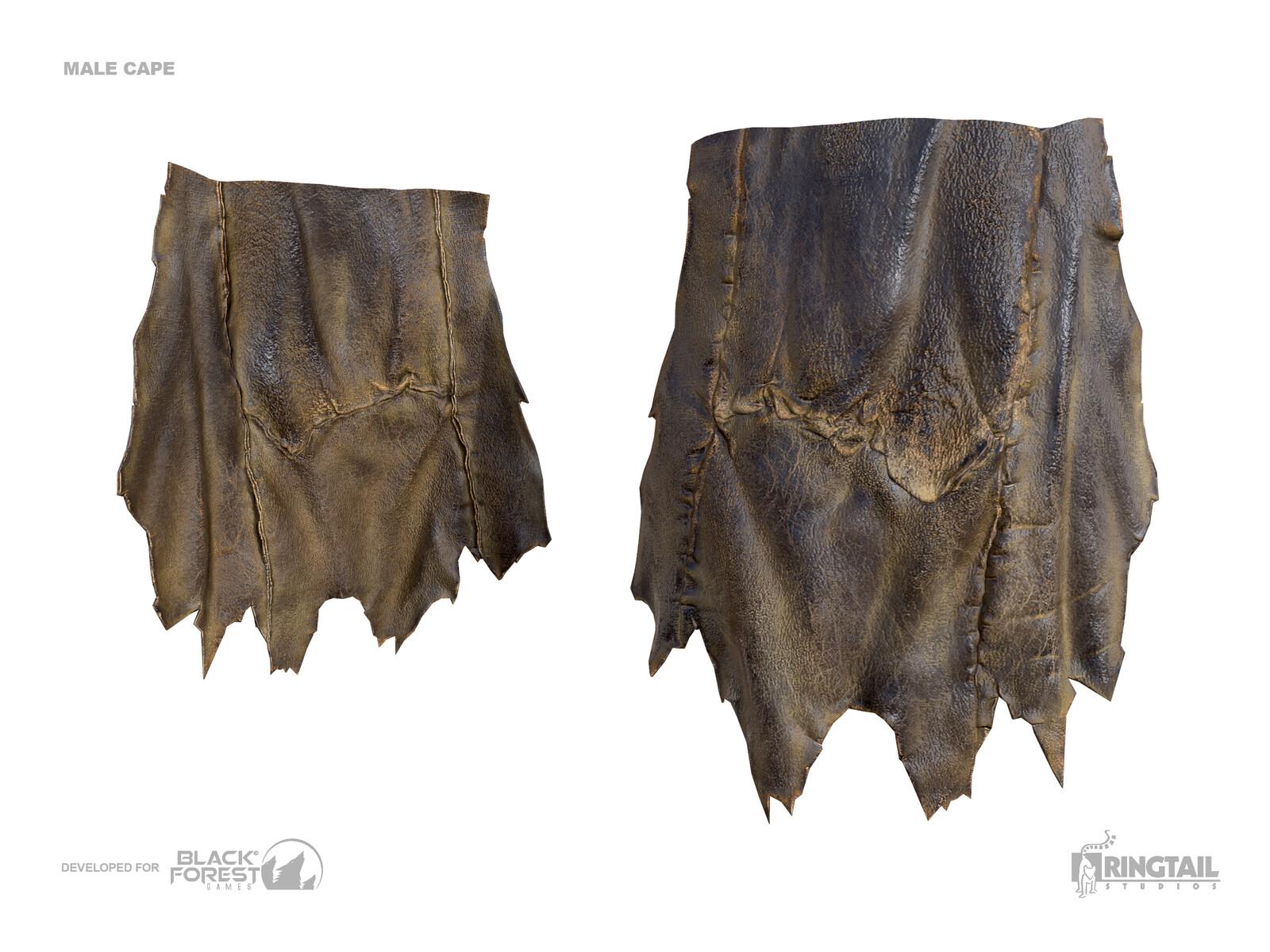 Male Leather Cape