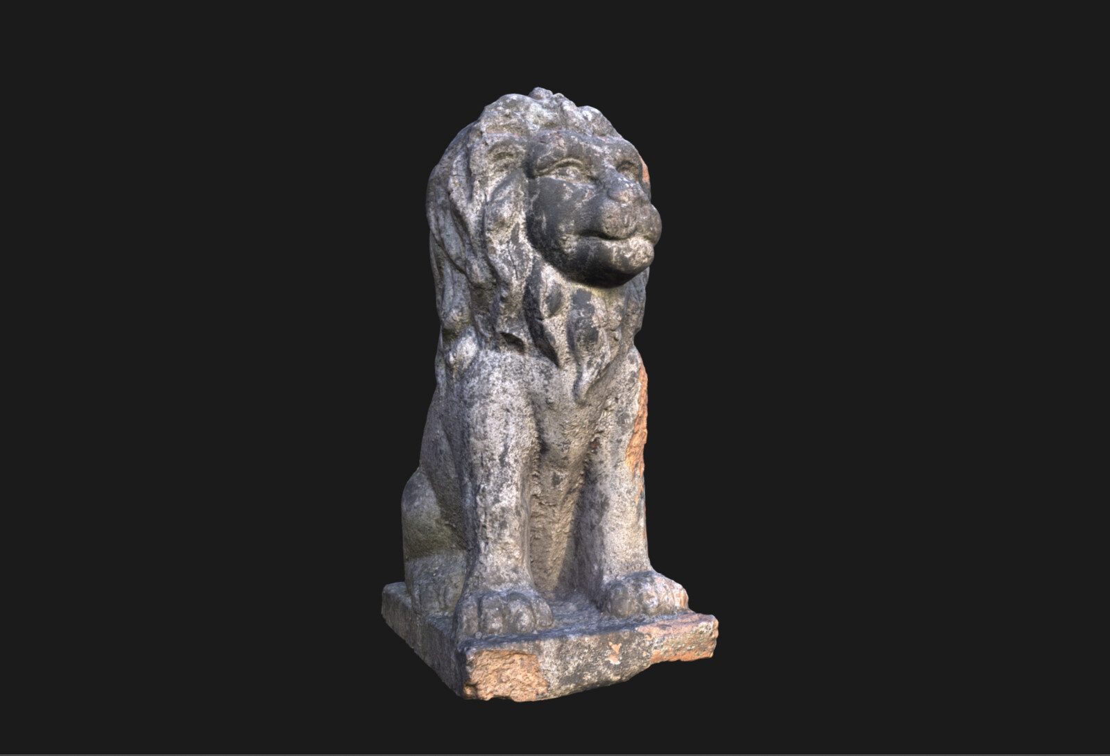 Stone Lion and Angel Statue Scan