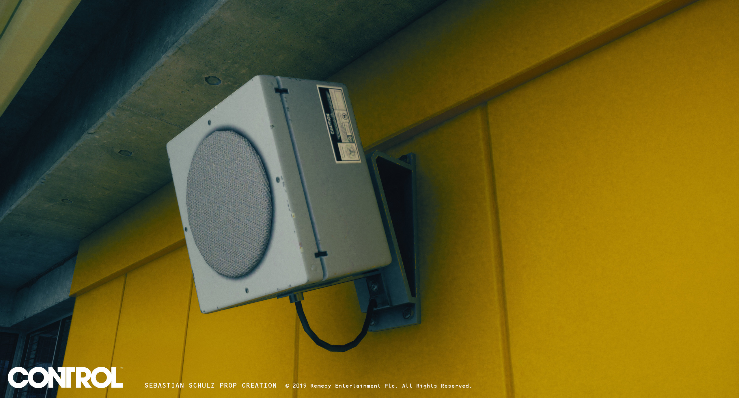 I created the speaker as well as the modular kit for the yellow wall panels