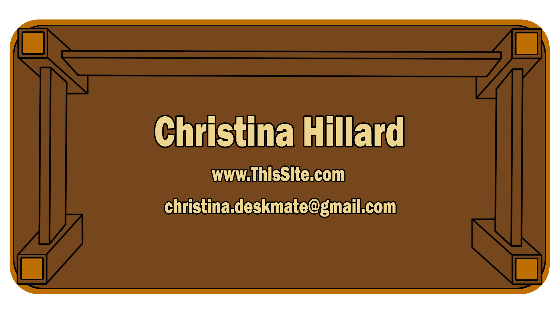 The backside (WIP) of the business card
