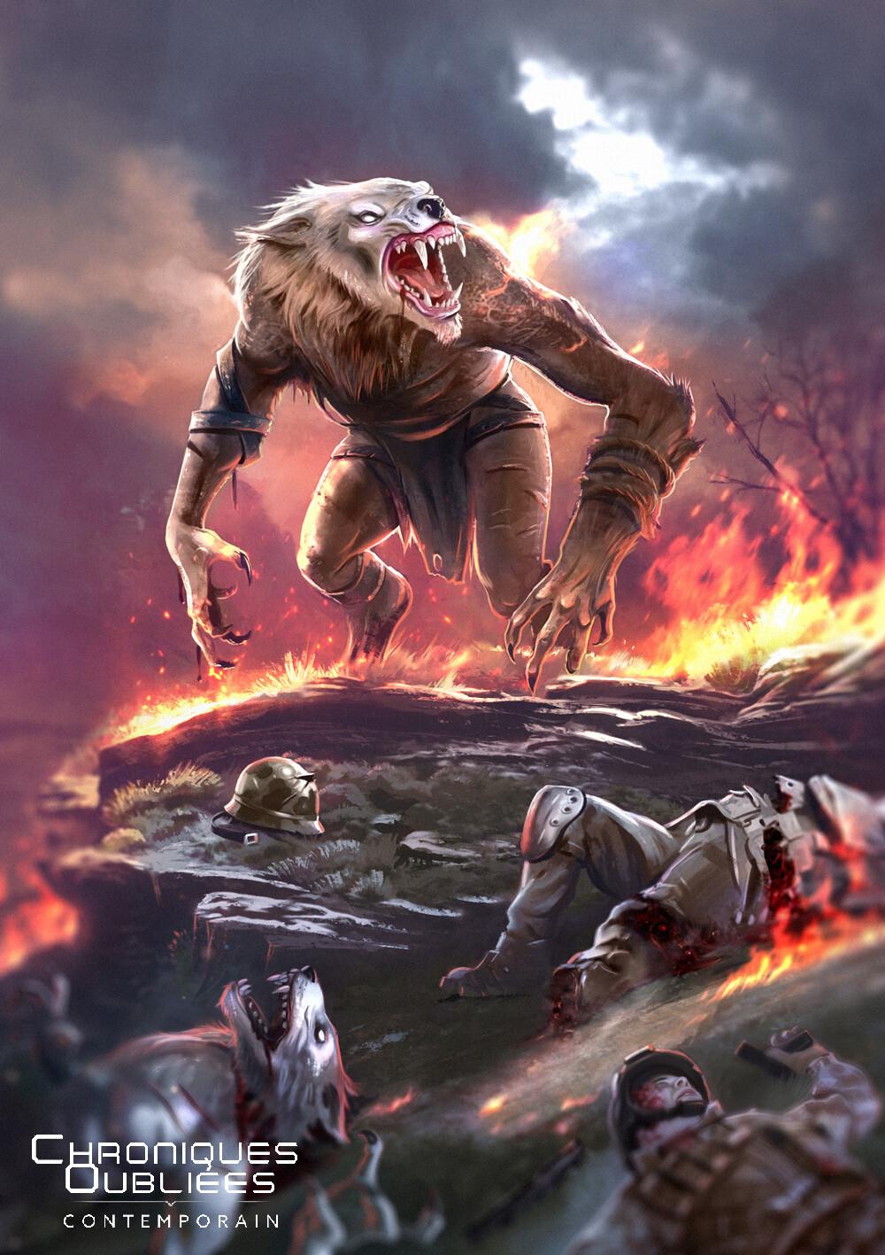 Do not challenge a werewolf!