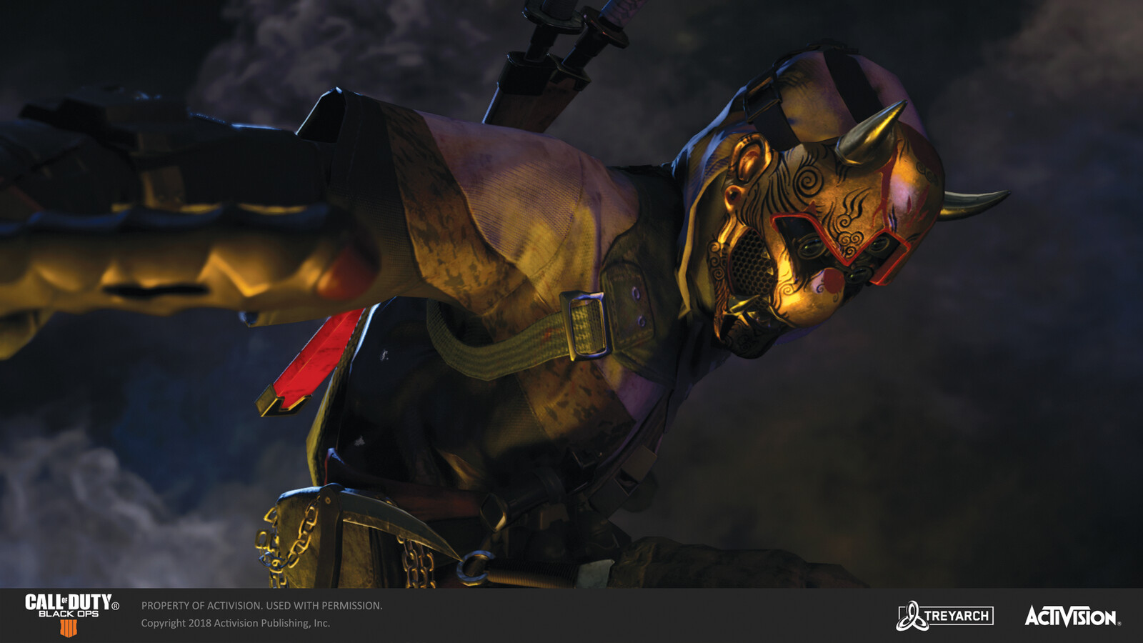 Responsible for texturing Spectre's golden mask variant (warpaint) for the 'Ninja' skin, released during the Operation Spectre Rising DLC. The base mask and body design concept was done by Karakter.