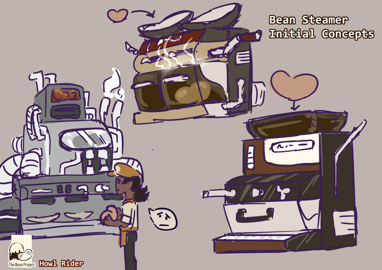Concepts of what the steamer might look like.