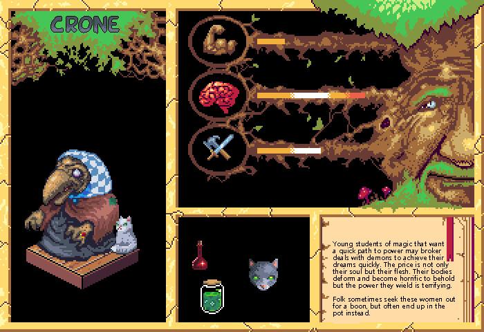 Crone Pixel Bestiary Entry