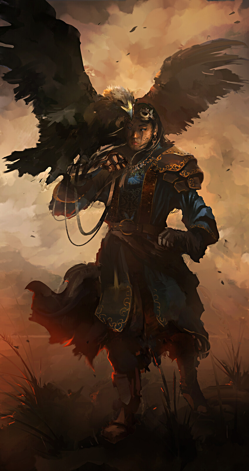 Mongolian Steampunk Eagle Huntress