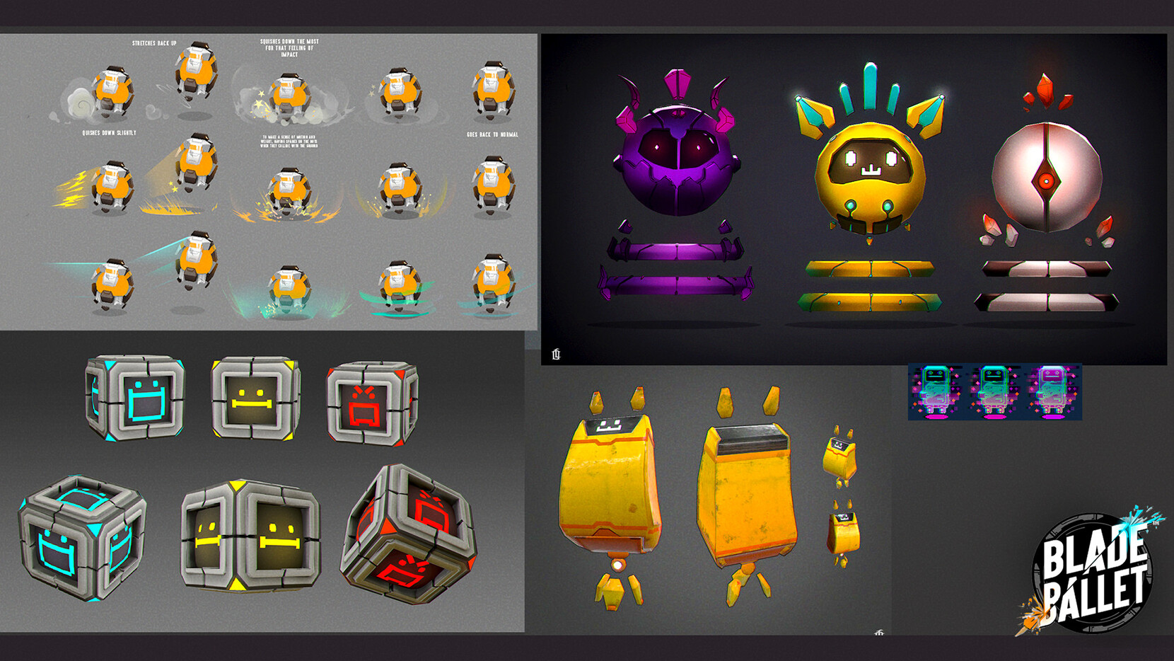 Some concepts and mood/texture tests I created in the beginning phases of the game