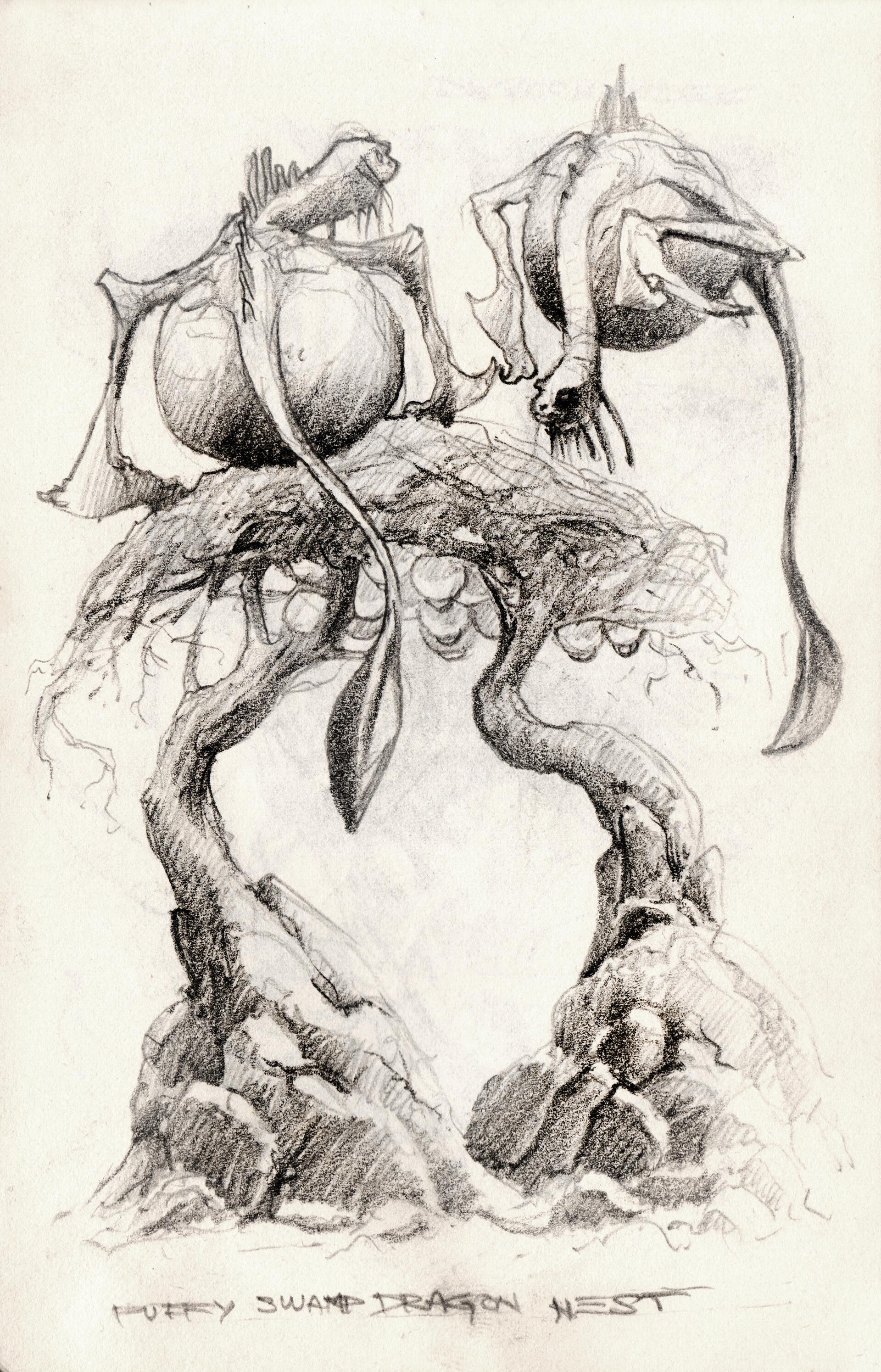 Swamp Dragon floating nest