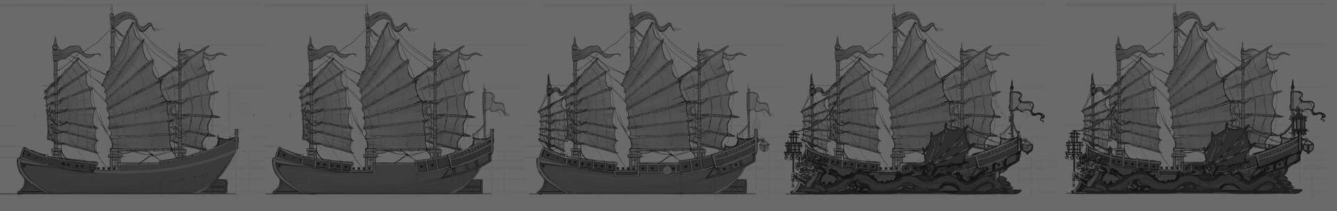 Chinese djonka ship