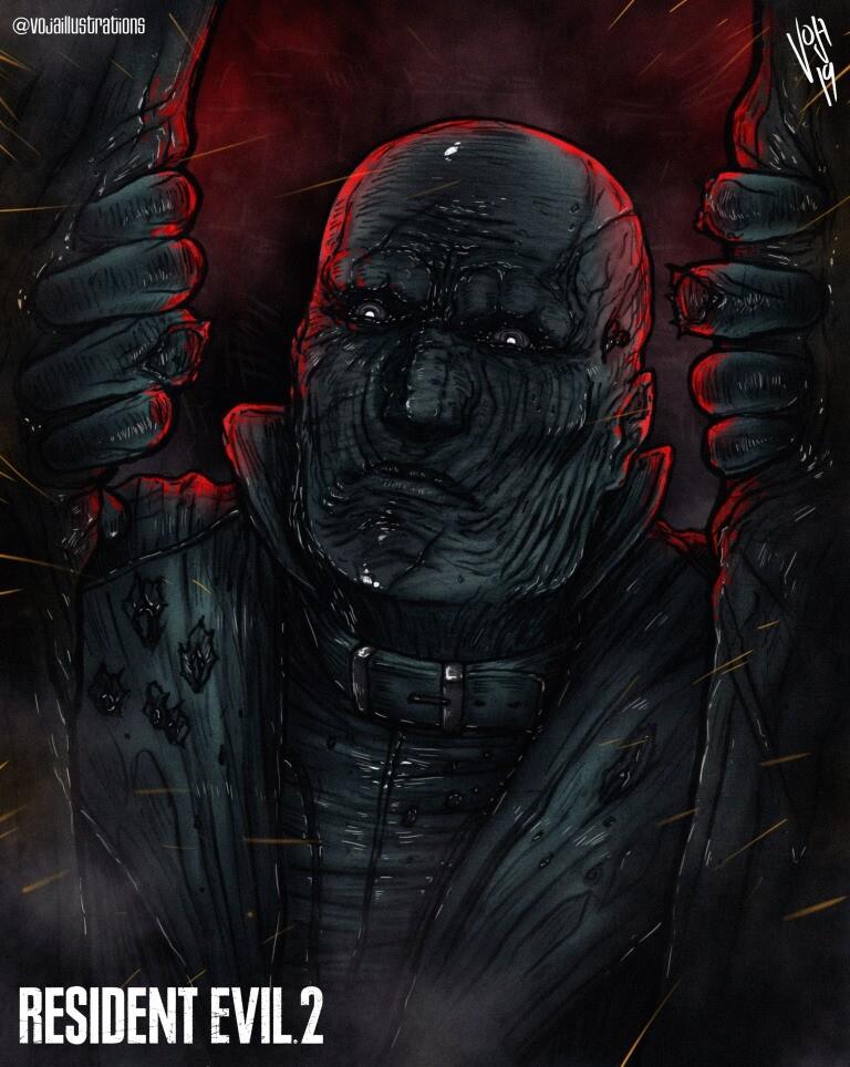 Artstation Mr X Resident Evil 2 Vojislav Jankovic