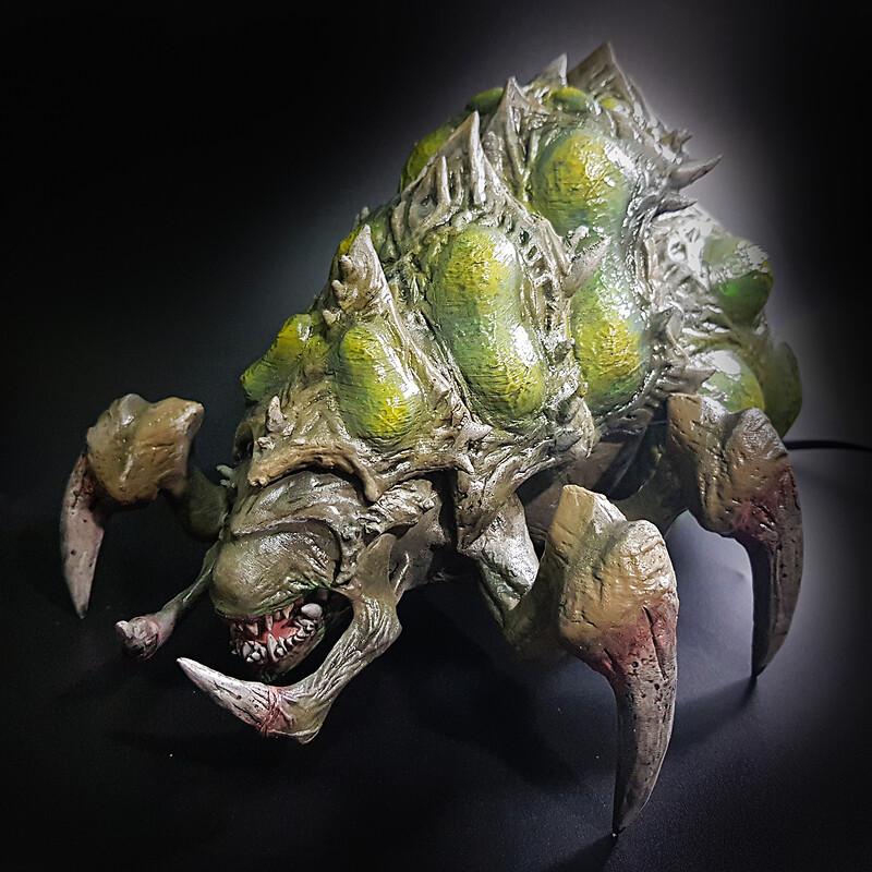 Starcraft Baneling Statue - Figurine Fanart - 3D print and Paint Job