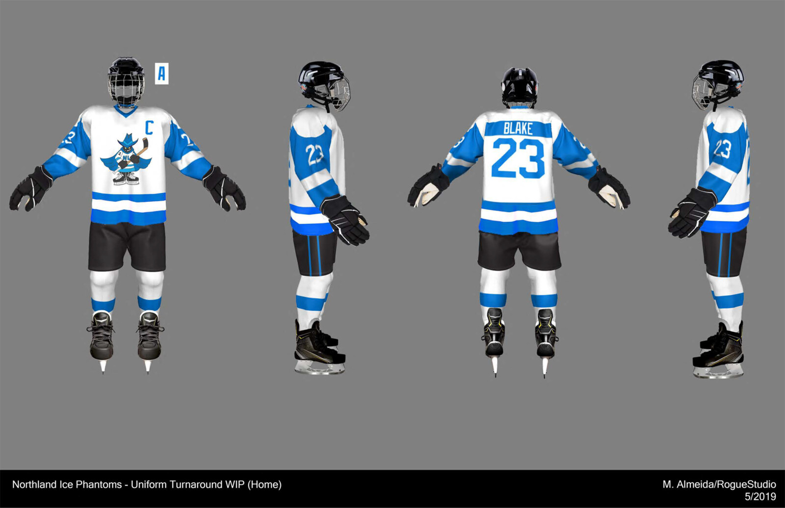 Home Uniform turnaround (WIP), Photoshop composite