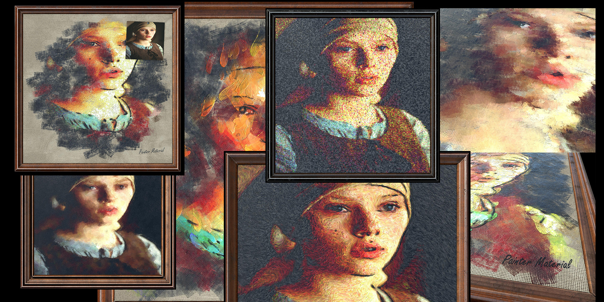 tribute to Vermeer and Scarlet Johansonn, and presets of the Painter Material