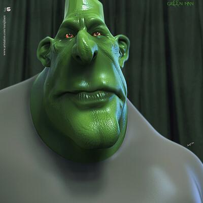Surajit sen green man digital sculpture surajitsen sept2019