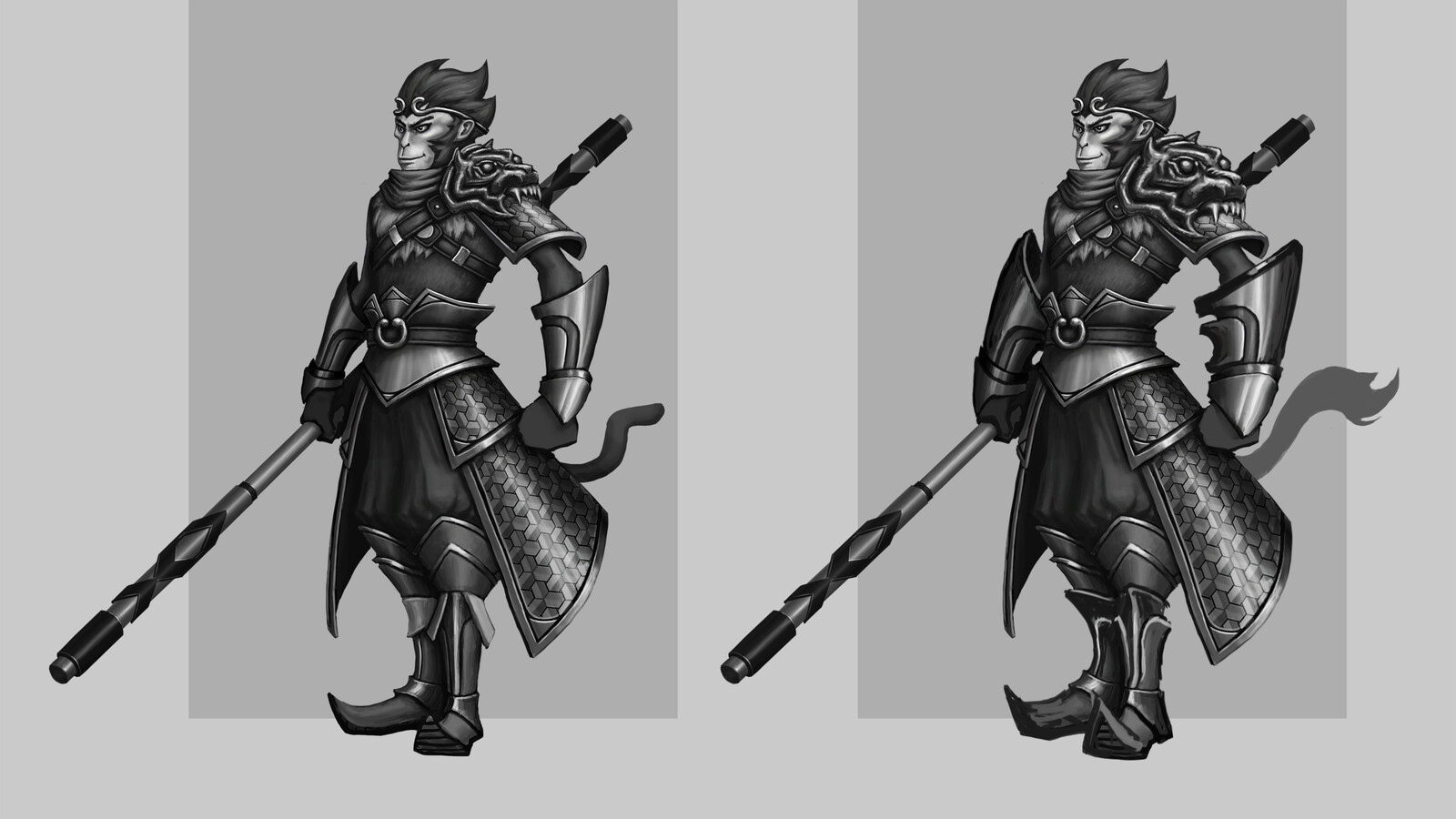 Stylised test - WuKong, the Monkey King