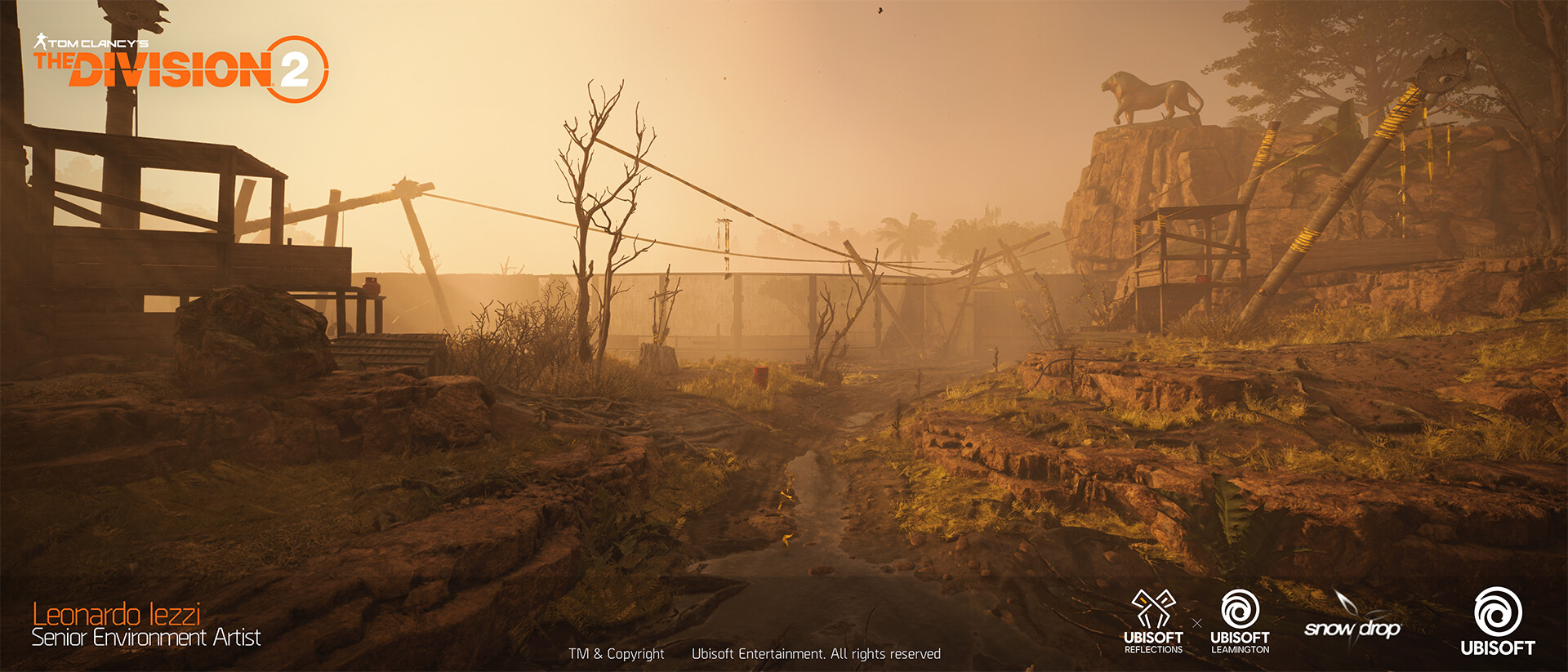 Leonardo iezzi leonardo iezzi the division 2 zoo environment art 06 lion 019 wide