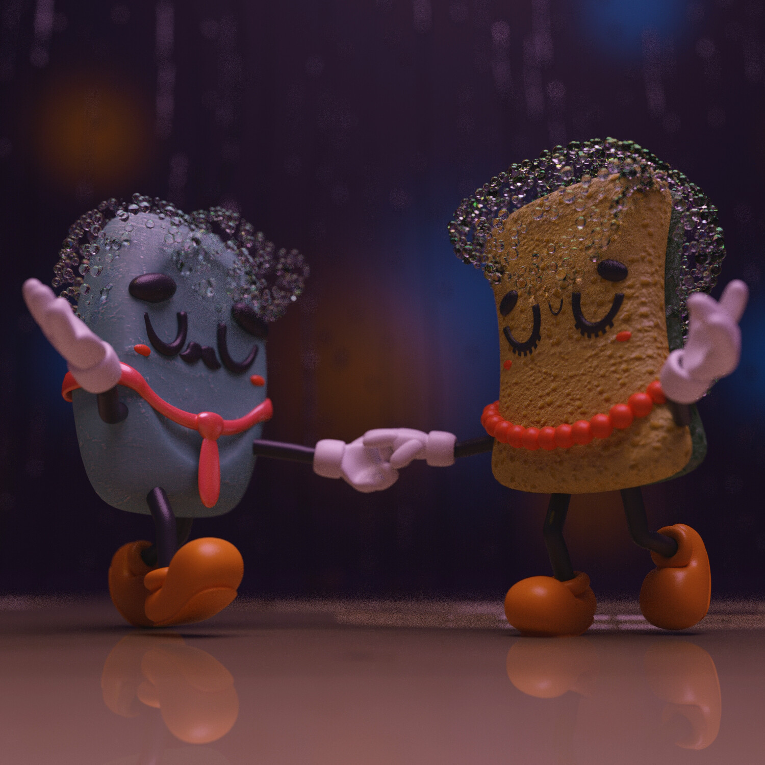 """""""Let's Dance"""", exploring some particle effects on this one."""