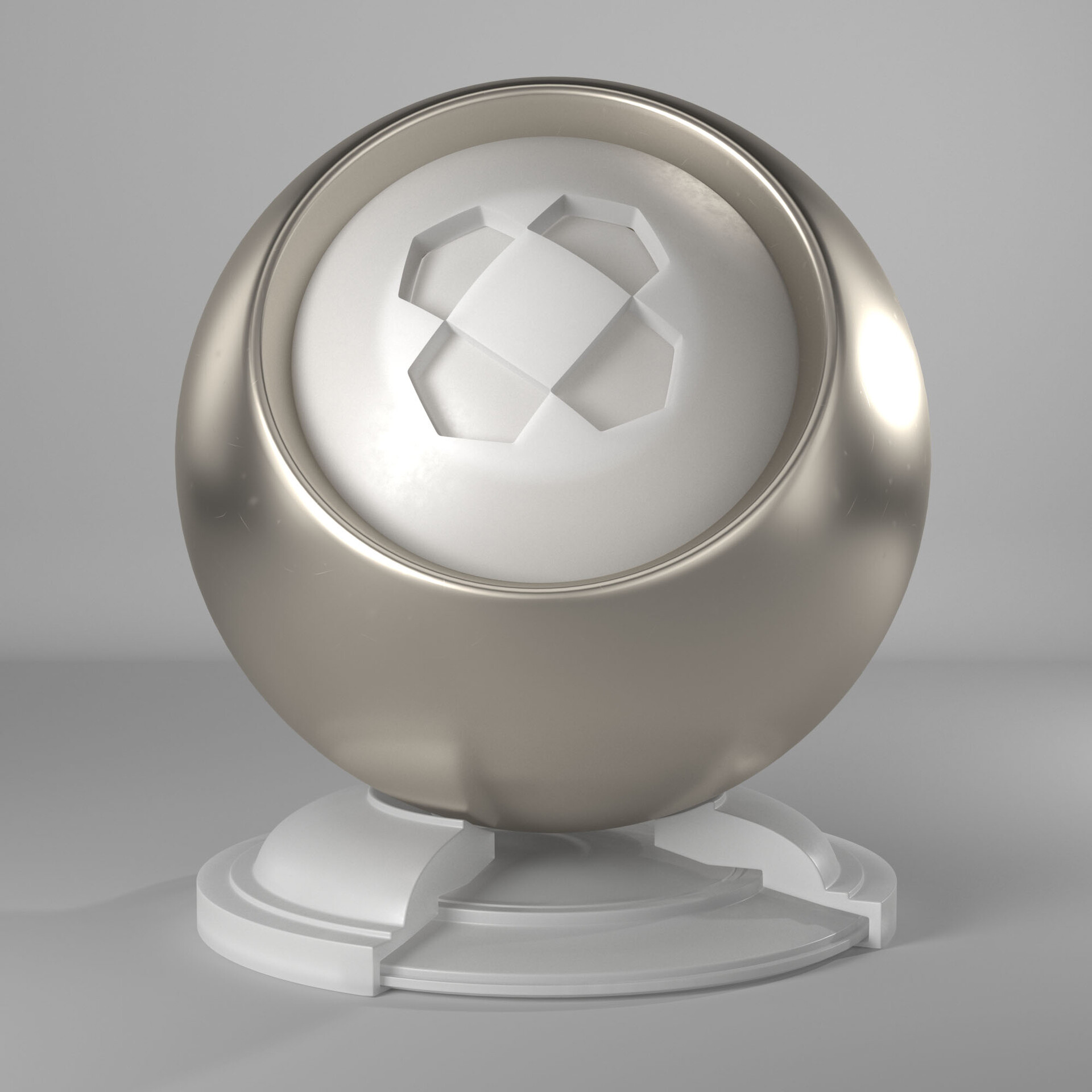 Nickel with white frosted glass