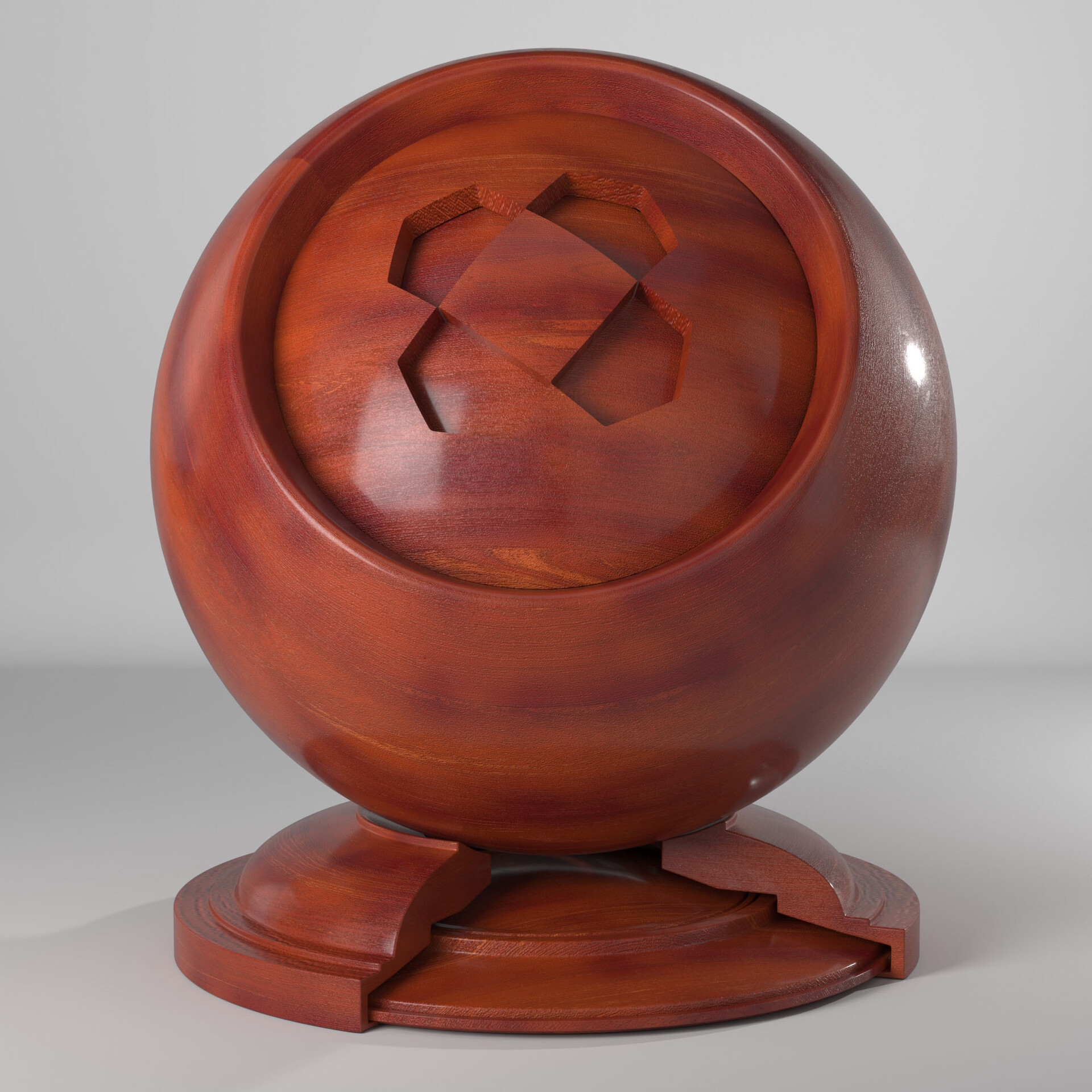 Cherry Wood with Clearcoat
