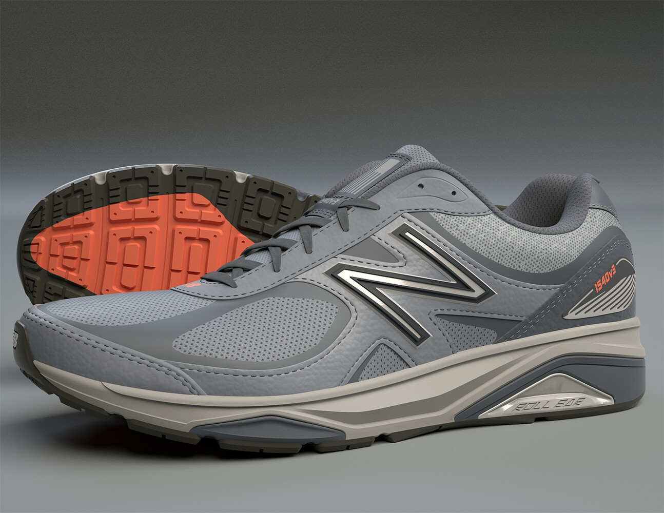 New Balance 1540v3 Shoe.  Made in Modo, is all quads and was rendered in Modo.