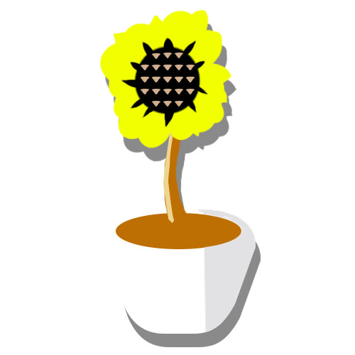 A static version of the flower pot icon
