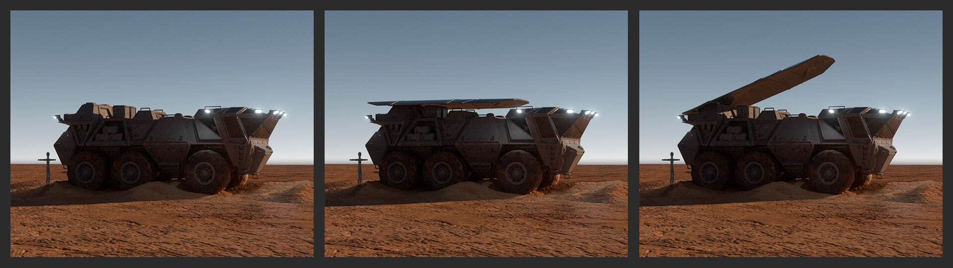 Wojtek kapusta conqueror mars vehicle solar