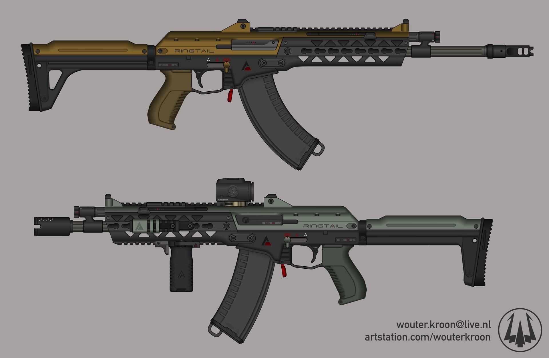 "ArtStation - ""Ringtail"" Assault Rifle, Wouter Kroon"
