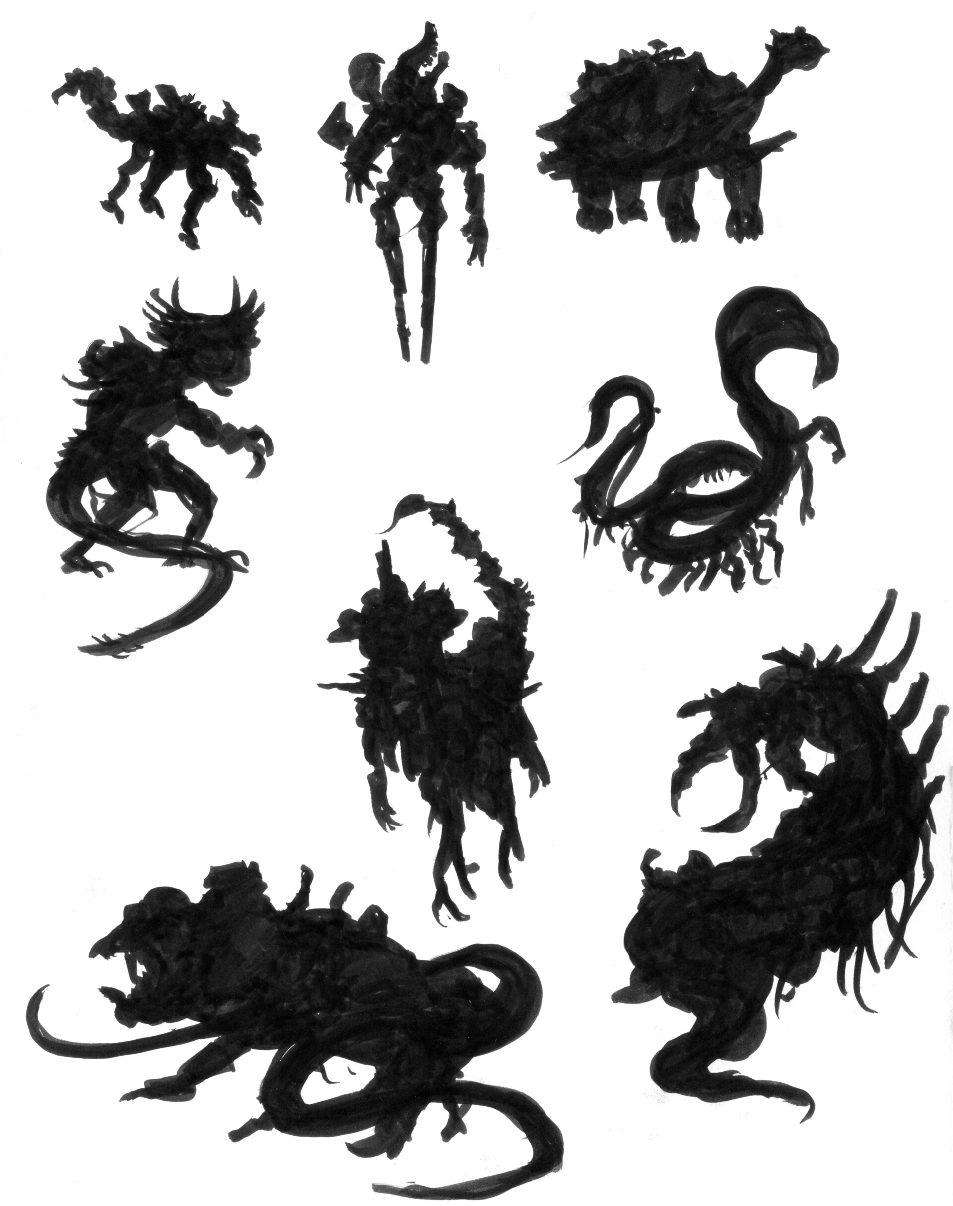 Christian herman pm creature phases silhouettes exploratory