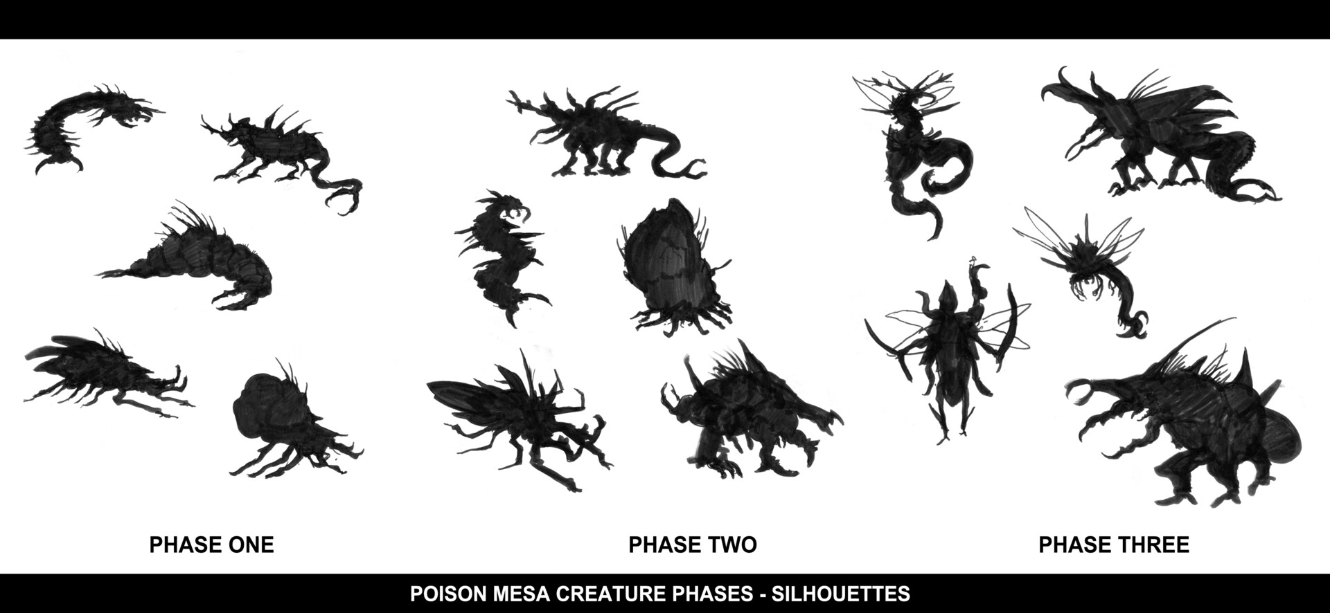 Christian herman pm creature phases silhouettes compiled