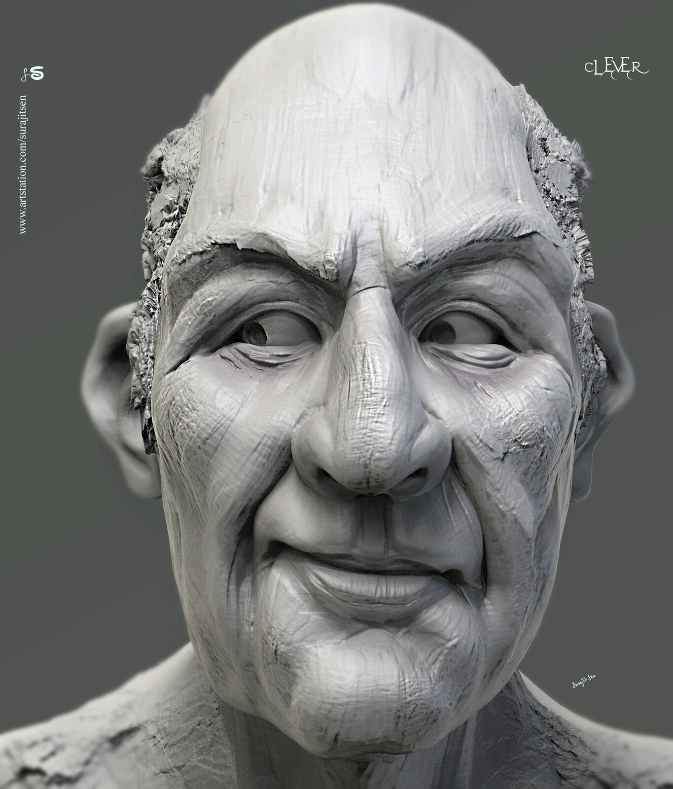 One of my free time speed Digital Sculpture…. Clever. Played with brushes.