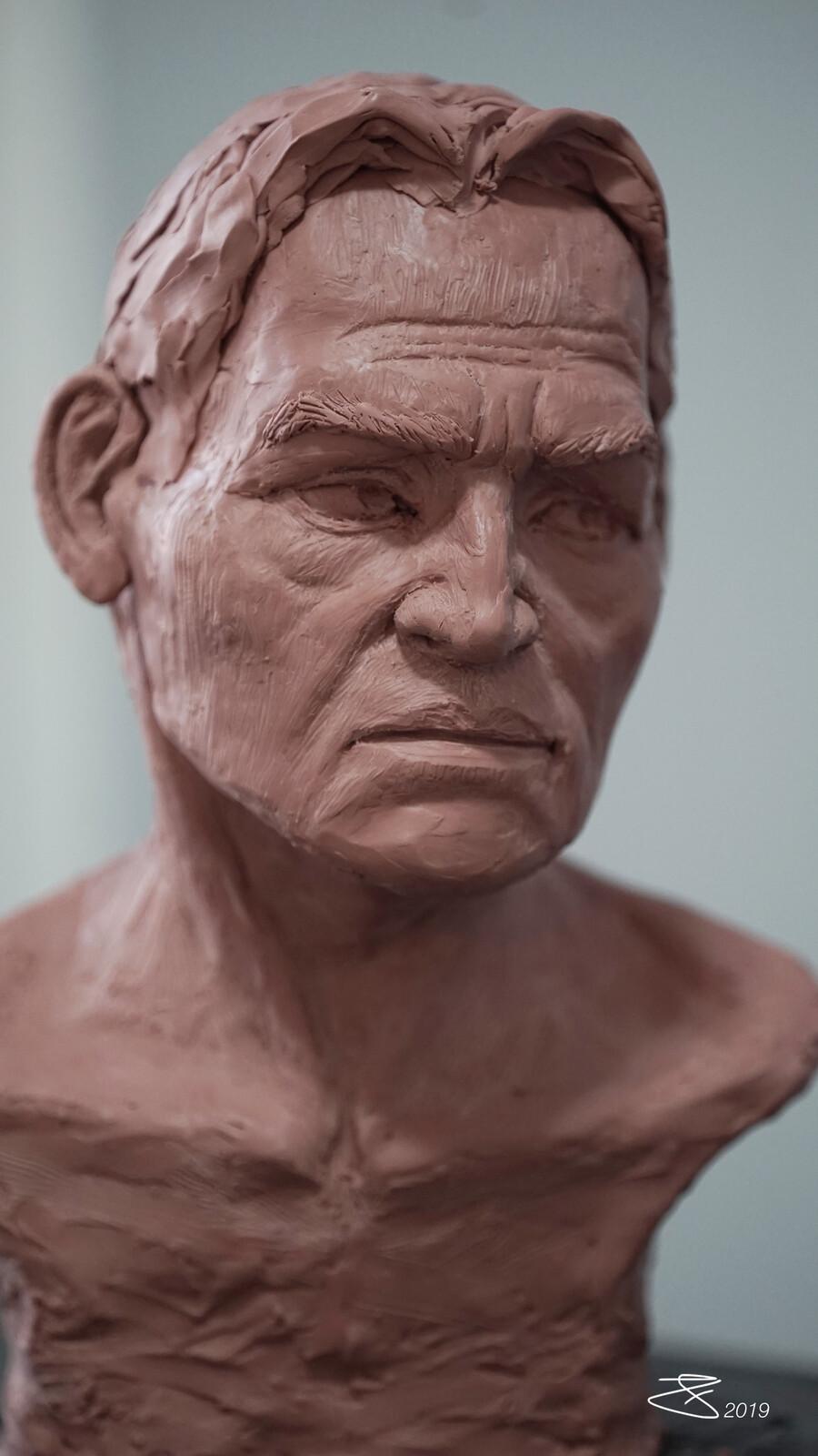 Bust Clay