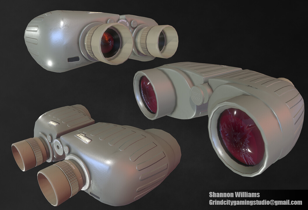 Steiner Military Binoculars (M830r 8x30r) I was really excited to see how the lenses would come out on this model. I struggled the most getting the shape of the body correct. I tried 3 methods before landing on the one being used.