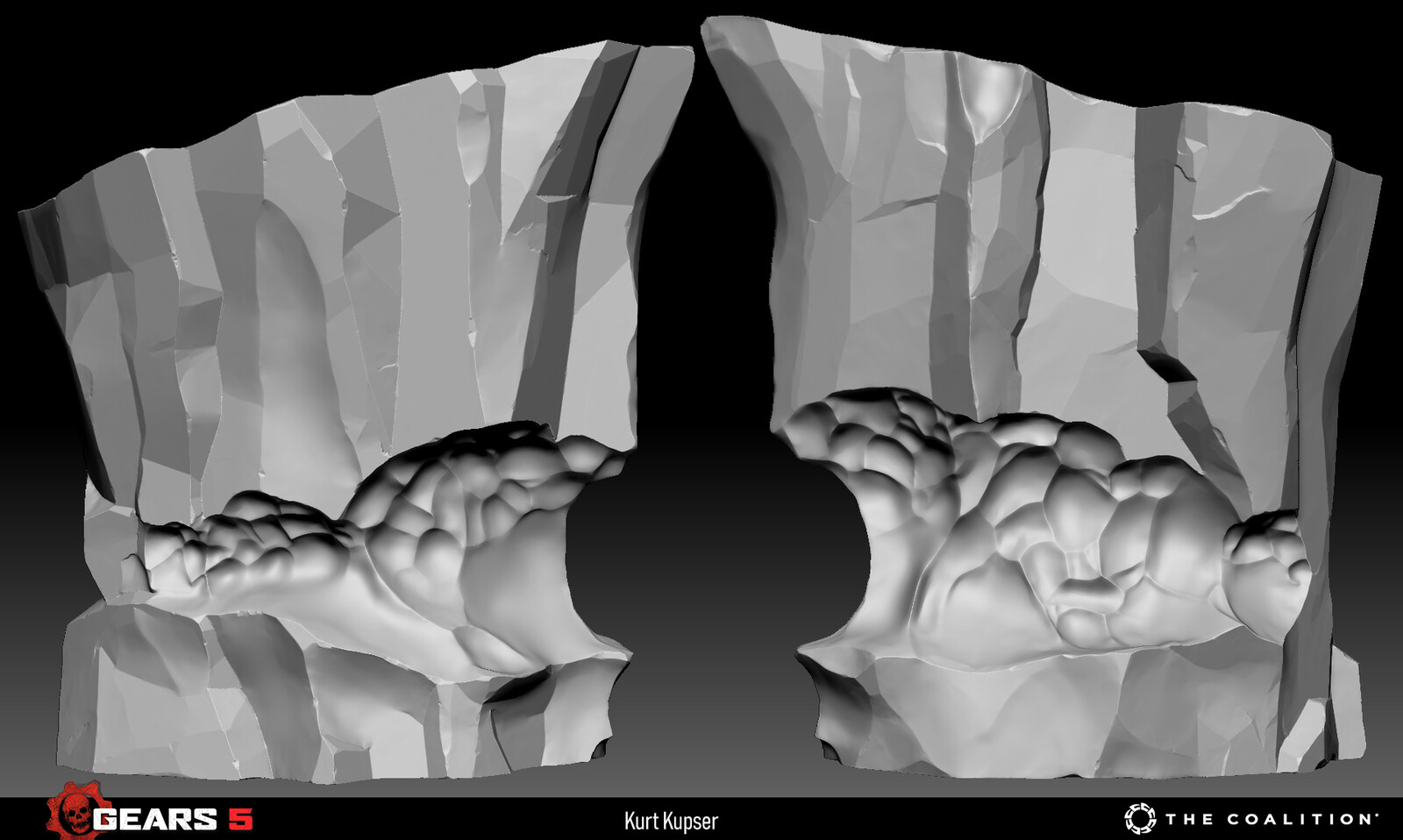 Another sculpt I made to set the visual target for the cliff ice kit.
