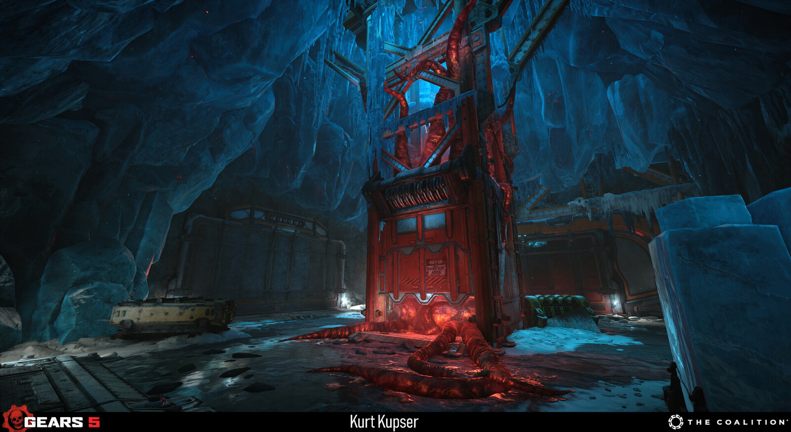 Example of the ice assets used in Escape. Level art by Boyd McKenzie. https://www.artstation.com/dakkon