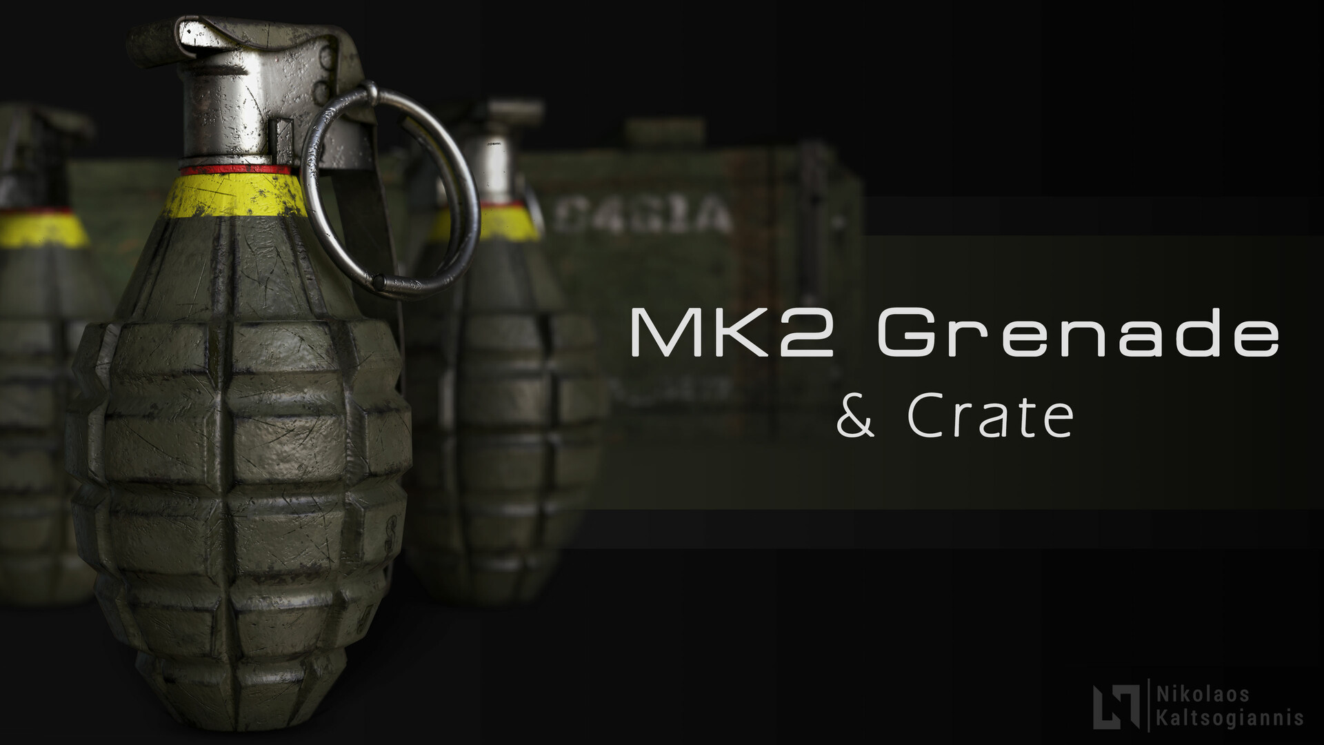Visit My Store: https://www.artstation.com/nickoxart/store/jagd/mk2-frag-grenade-crate-of-the-u-s-army