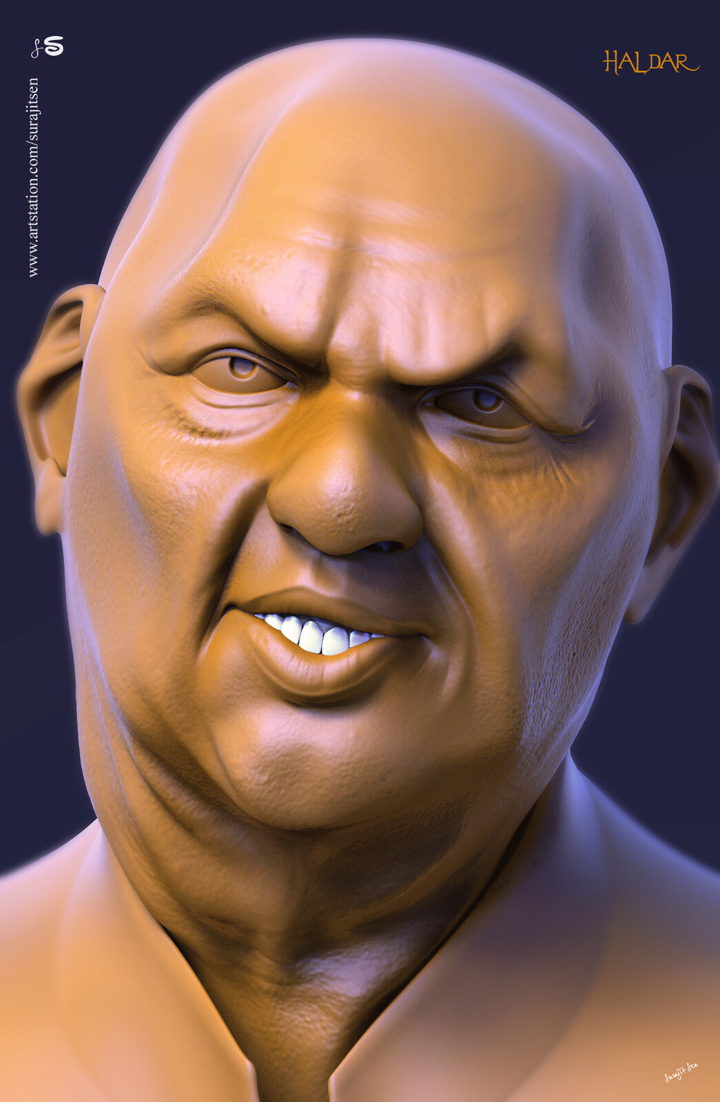 One of my free time quick Digital Sculpting study.