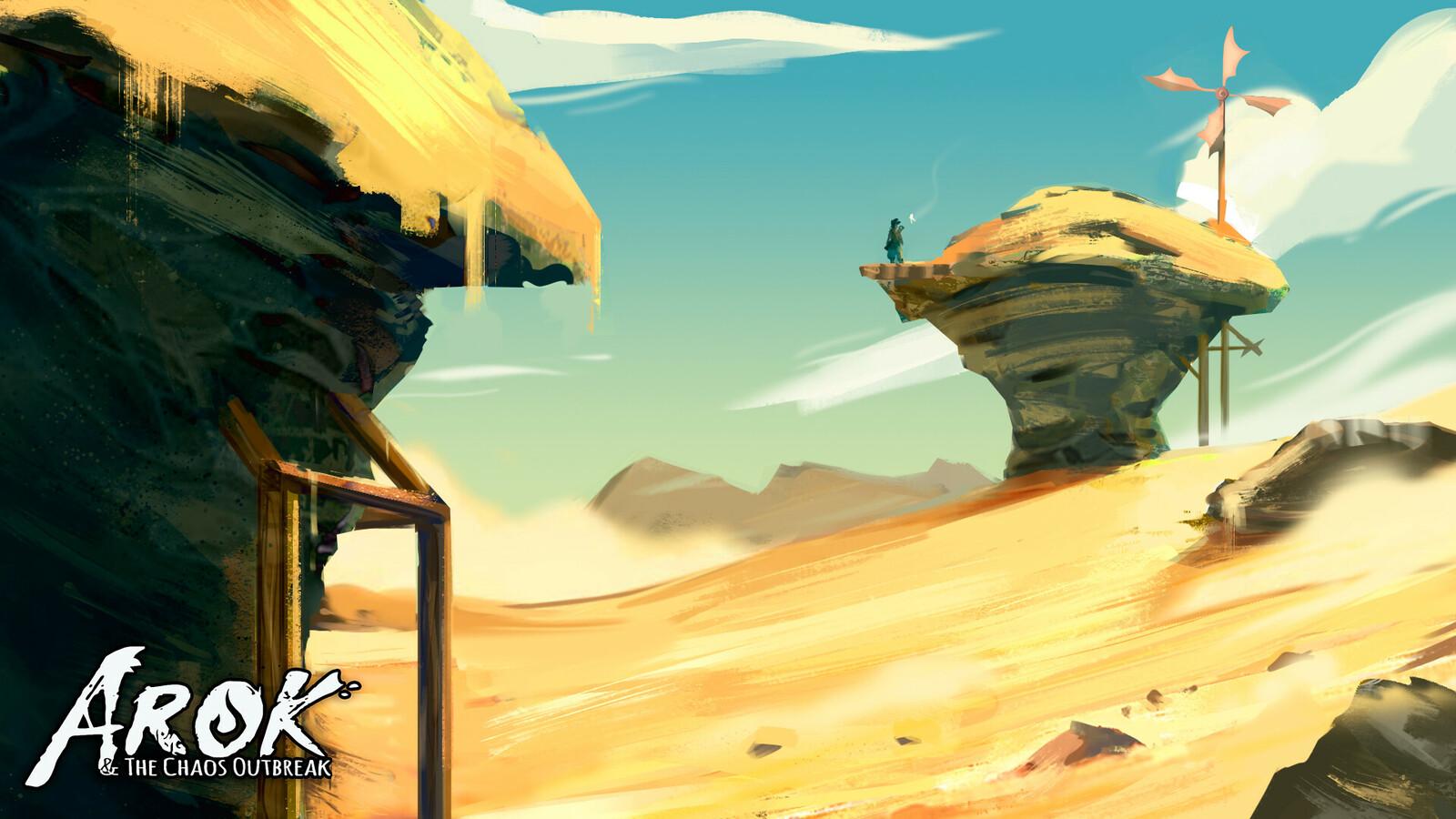 """Environment Design """"Desert Zone"""""""