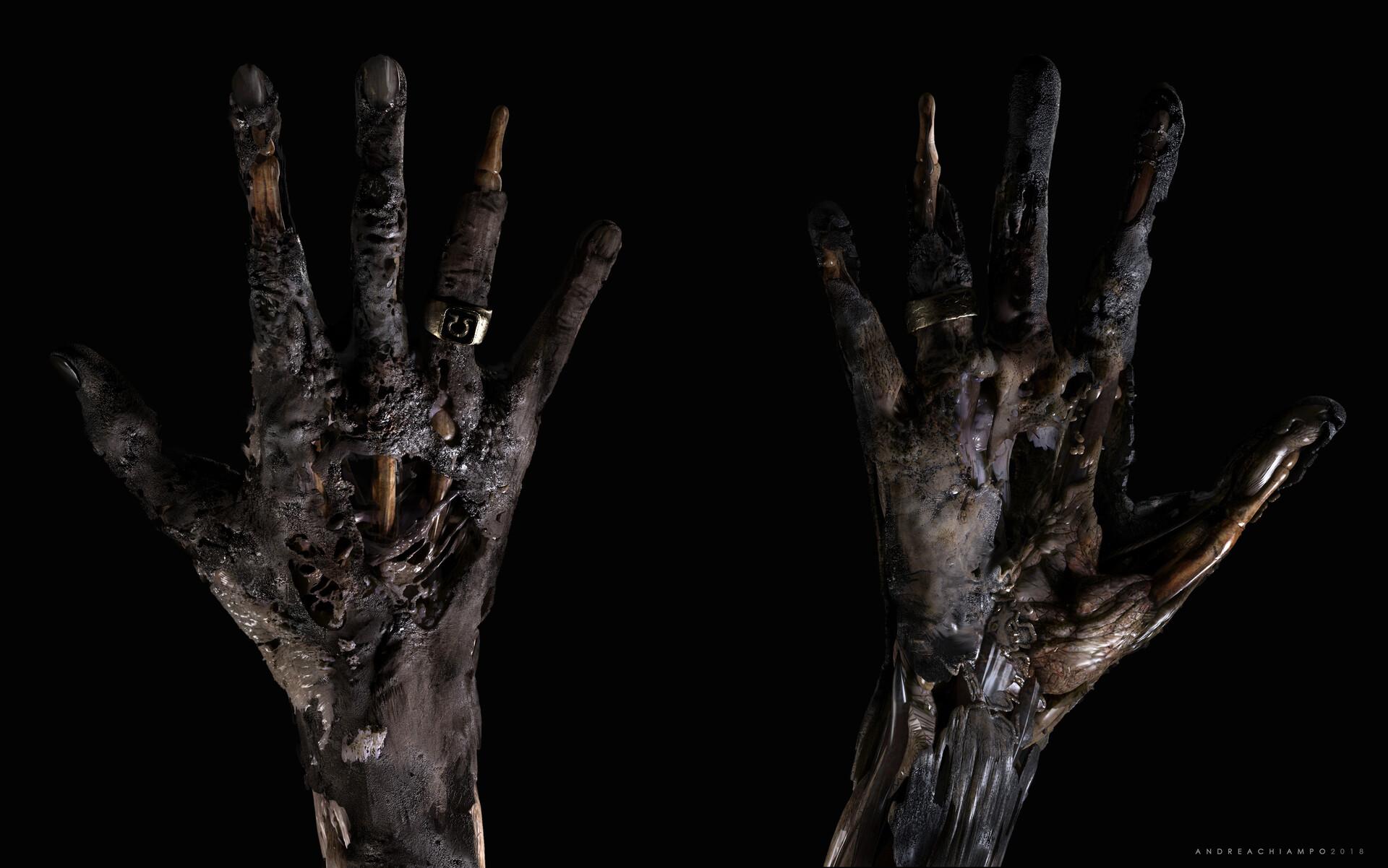 Andrea chiampo andrea chiampo mummy hand concept