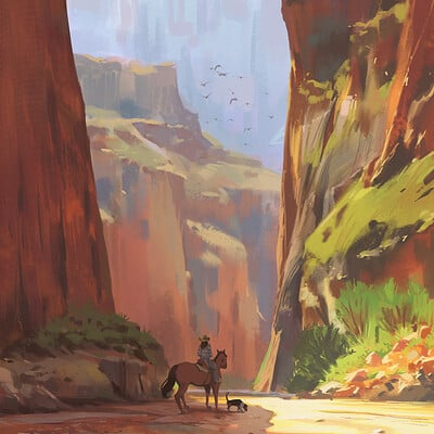 Atey ghailan grand canyon final painting