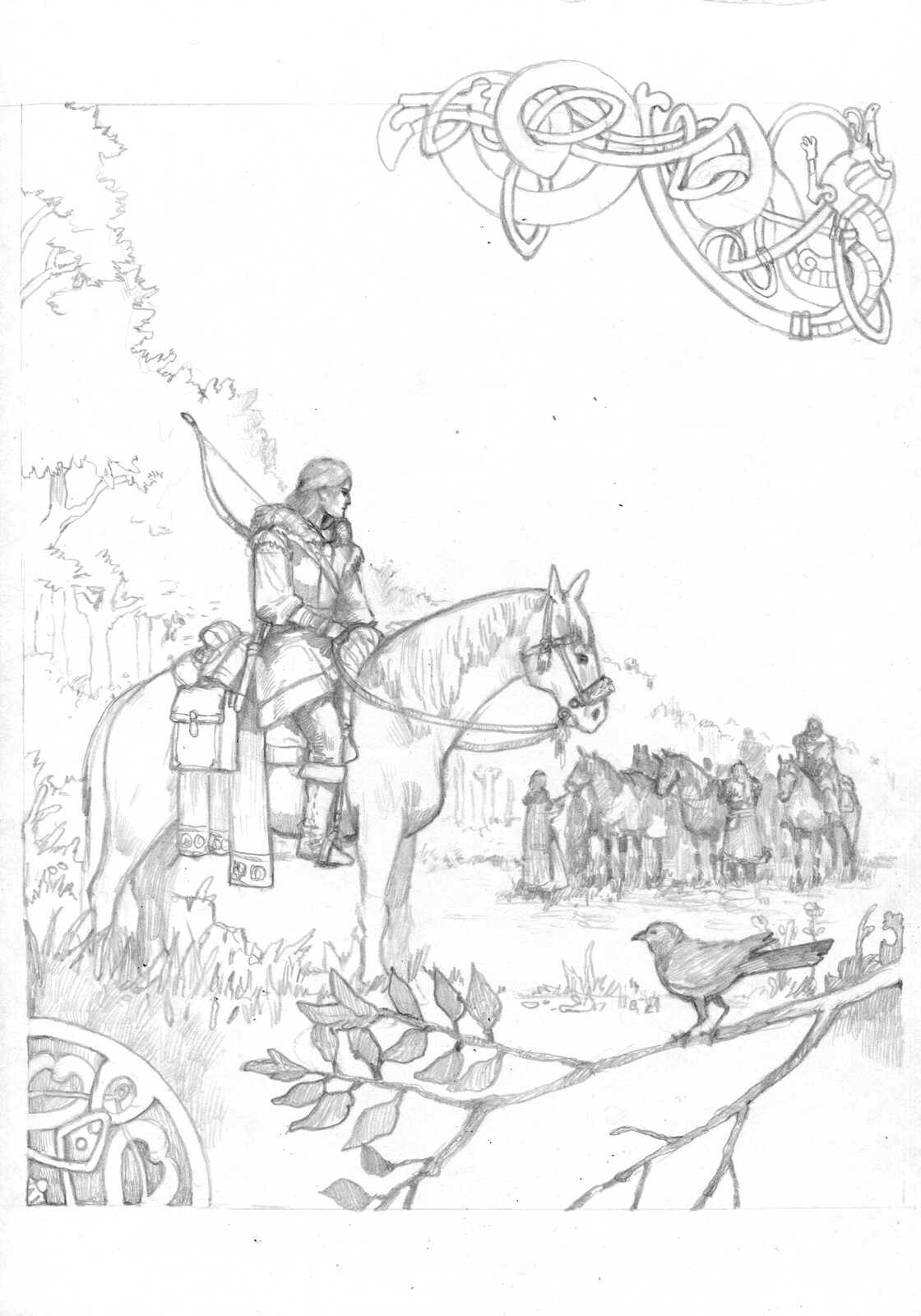 "Sketch of ""Departing from the Forest"""