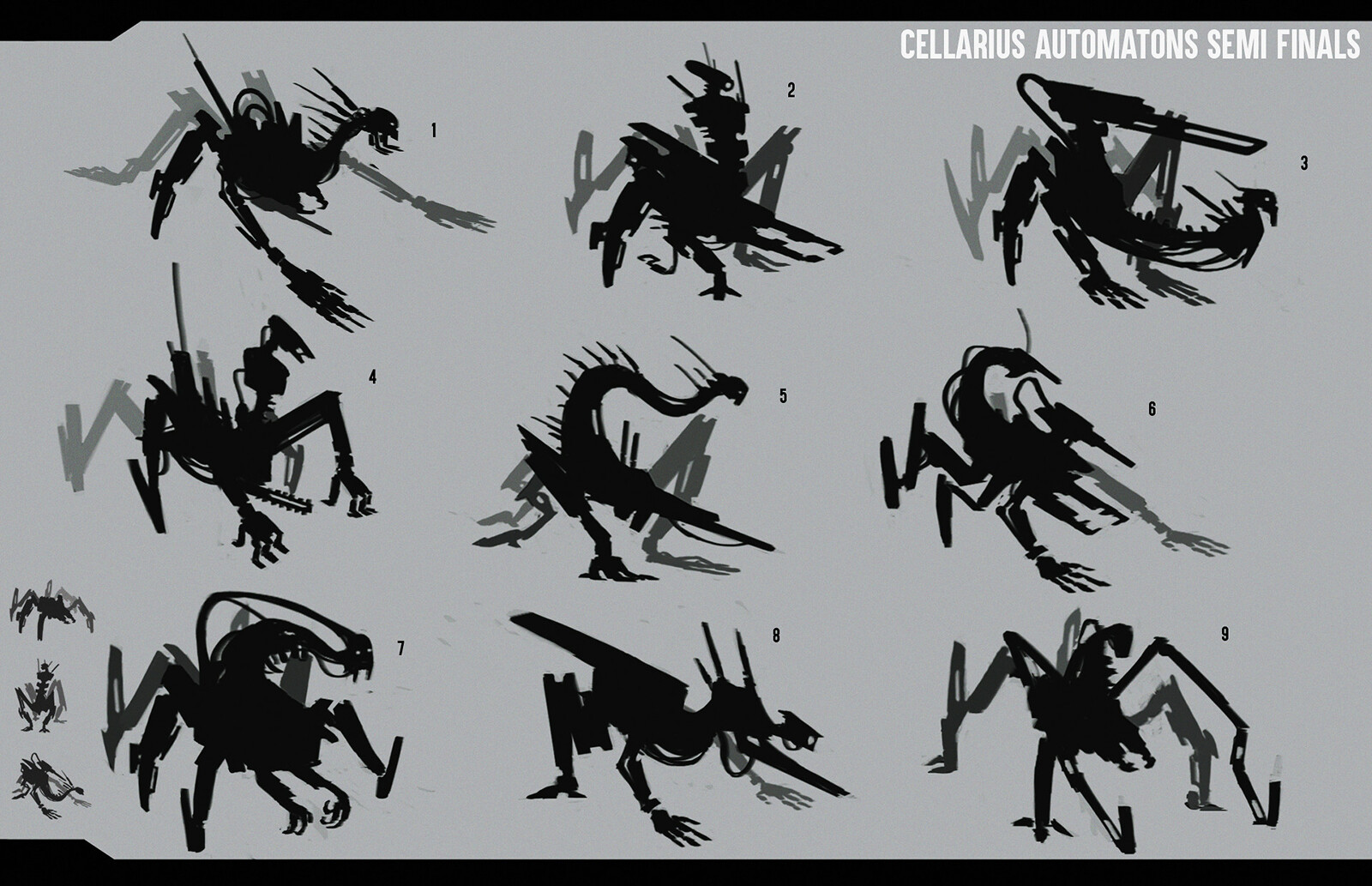 More silhouettes to finalize the shape and feel