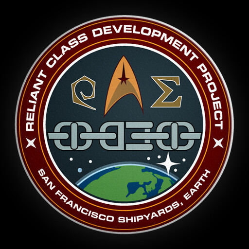 "The ""mission patch"" for this ship, created in Adobe Illustrator."